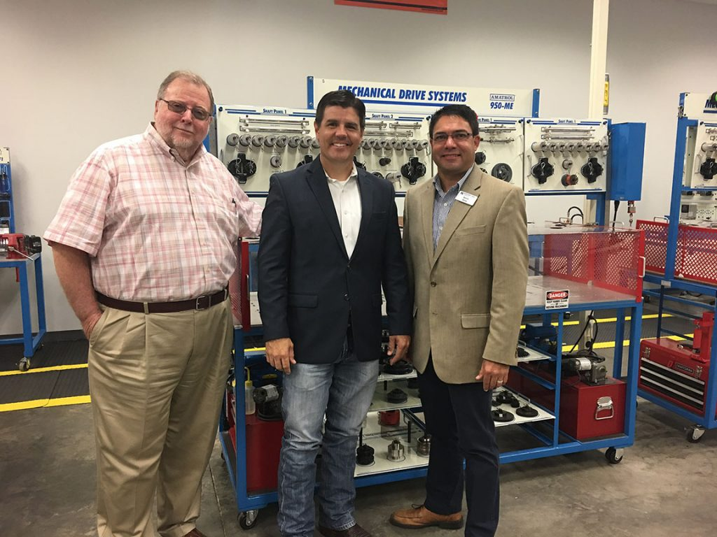 Representative Cole Hefner Visits Industrial Technology Training Center