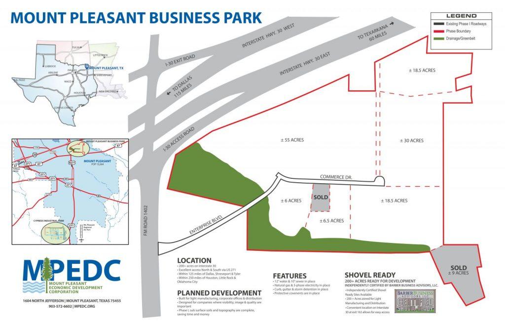Mount Pleasant business park details